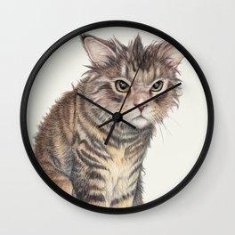 Messy Cat Wall Clock