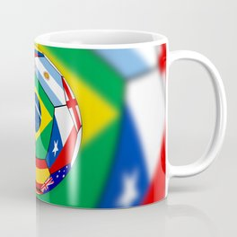 Ball With Various Flags Coffee Mug