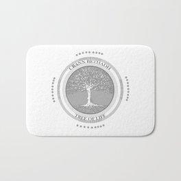 Tree of life (white) Bath Mat