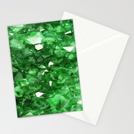 EMERALD GREEN CRYSTALS  MAY BIRTHSTONE Stationery Cards