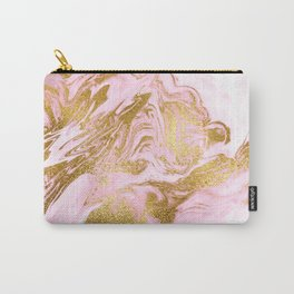 Rose Gold Mermaid Marble Carry-All Pouch