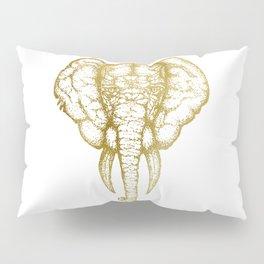 Elefante - Gold Pillow Sham