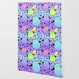 Pop Colour Bat Cats Wallpaper