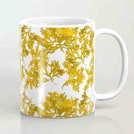 Ocre Seaweed Pattern Coffee Mug
