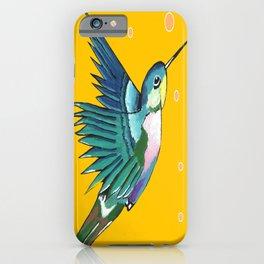 Hummingbird Yellow iPhone Case