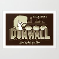 dishonored Art Prints featuring Greetings from Dunwall by adho1982