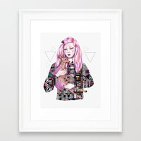kris tate Framed Art Prints featuring EMBRACE by Kris Tate and Ola Liola  by Ola Liola