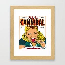 Cannibal Comics vintage comic book cover Framed Art Print