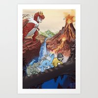 Movie Poster - The Land Before Time Art Print