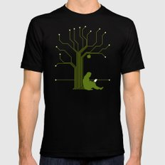 Apple CircuiTree Mens Fitted Tee Black X-LARGE