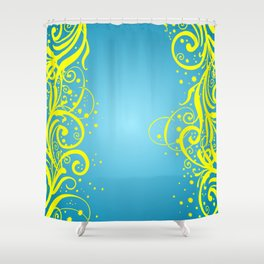 Abstract blue-yellow background Shower Curtain