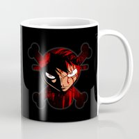 luffy Mugs featuring BLOODY LUFFY by feimyconcepts05