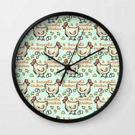 a successful chicken Wall Clock