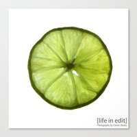 lime Canvas Prints featuring Lime by Esmer Olvera