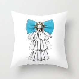 Versailles Style Riffle Jabot Painting (bow tie) T-shirt Throw Pillow