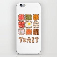Breakfast Toast iPhone & iPod Skin