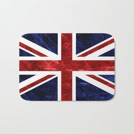 Grunge Union Jack Flag Bath Mat