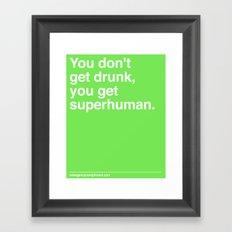 Superhuman Framed Art Print