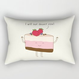 The reason why we love desserts... Rectangular Pillow