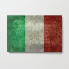 Flag of Italy, Vintage Retro Style Metal Print