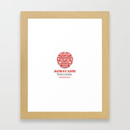 Kobayashi Porcelain Framed Art Print