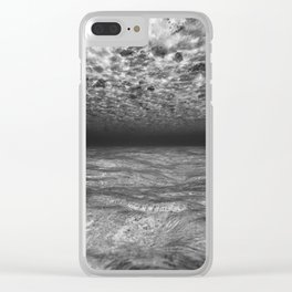 Under the Sea (Black and White) Clear iPhone Case