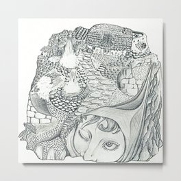Turtle Dream Metal Print