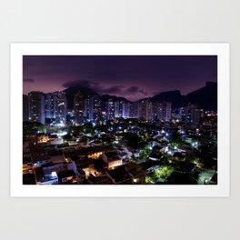 Purple Rio Art Print