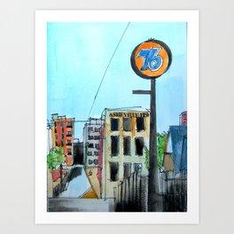 76 Walnut Street Asheville  Art Print