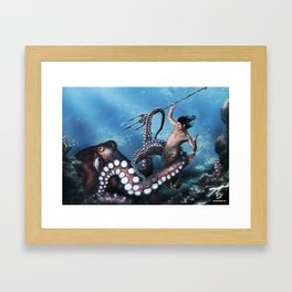 Marine Combat Framed Art Print