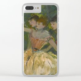 "Edgar Degas ""Dancers with tambourine"" Clear iPhone Case"