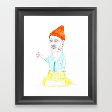 steve zissou Framed Art Print