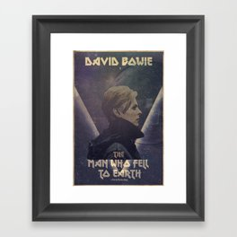 David Bowie The man who fell to earth Framed Art Print