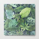 Tropical Branches on Dark Pattern 07 by serigraphonart