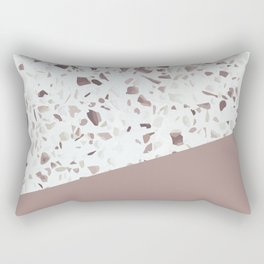 Terrazzo Texture Antique Pink #6 Rectangular Pillow