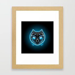 Cute Skulls Black Cat Framed Art Print