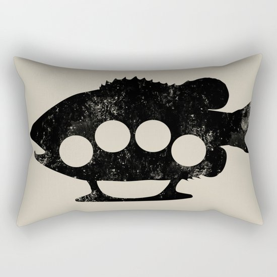 Bass Knuckles Rectangular Pillow