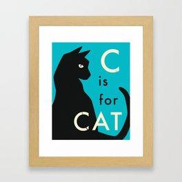 C is for CAT (2) Framed Art Print