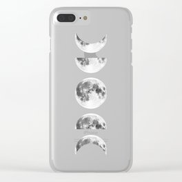 Phases of the Moon Galaxy Clear iPhone Case