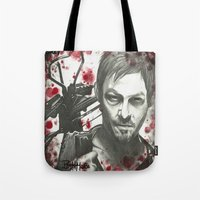 daryl dixon Tote Bags featuring Daryl Dixon by LisilV