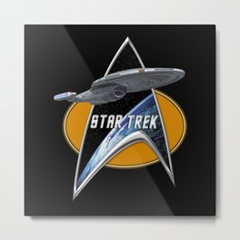 StarTrek Voyager Command Signia Chest 2 Metal Print