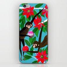 Spider Monkeys Holiday Card iPhone & iPod Skin