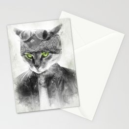 Biker Cat Stationery Cards