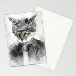 Biker Cat Stationery Cards