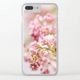 purple Syringa vulgaris or lilac buds Clear iPhone Case