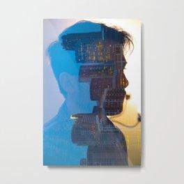 Double Exposure 1 Metal Print