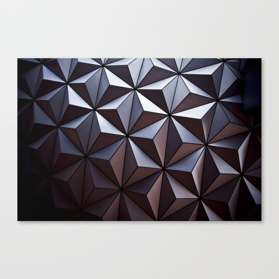 Disney Epcot Texture Pattern Awesome Canvas Print