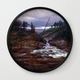 Johan Christian Dahl The Lower Falls of Labrofoss Wall Clock