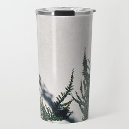 Floral White Wall Travel Mug