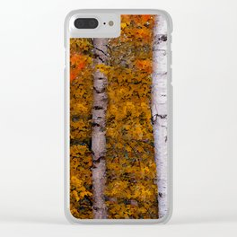Birch Trees #2 Clear iPhone Case
